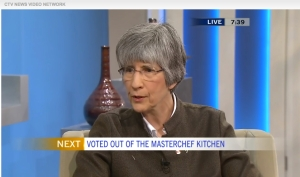 Dr. Sandra Black on Canada AM (not voted out of the Masterchef Kitchen)
