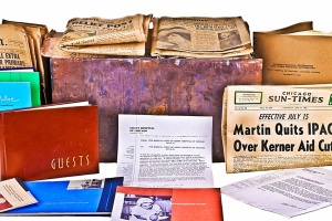 Contents of Grant Hospital time capsule | Courtesy Eric Nordstrom