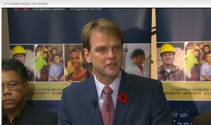 Canadian Immigration Minister Chris Alexander • Screen grab from CTV National News