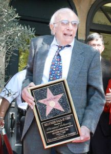 Sherwood Schwartz receiving his star on the Hollywood Walk of Fame, 2008 ~ Credit: Nicolj
